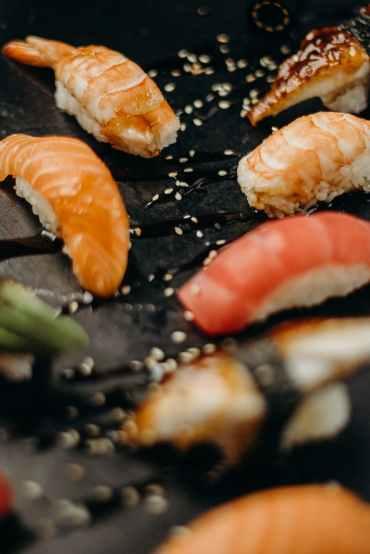 close up photo of sashimi